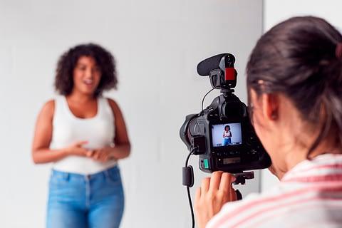 Vídeos em treinamento
